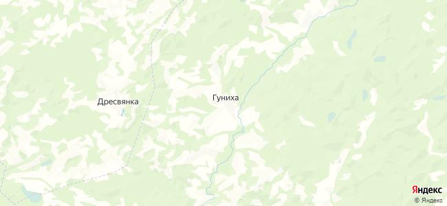 Гуниха на карте