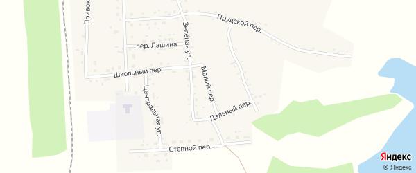 Малый переулок на карте Гордеевского поселка с номерами домов