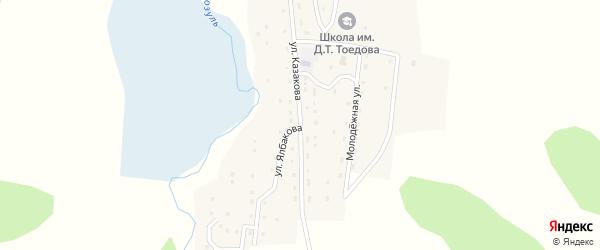 Улица Им Т.Казакова на карте села Козуля Алтая с номерами домов