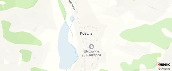 Карта села Козуля в Алтае с улицами и номерами домов