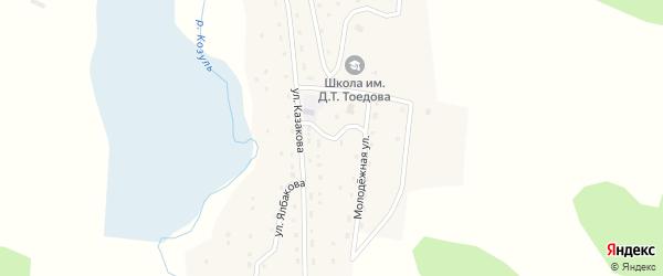 Улица Модорова на карте села Козуля Алтая с номерами домов