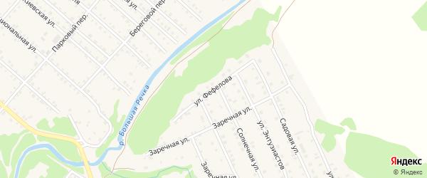 Переулок Фефелова на карте Троицкого села с номерами домов