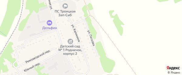 Улица Пяткова на карте Троицкого села с номерами домов