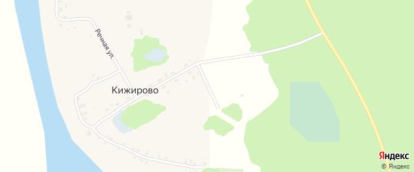 Цветочный переулок на карте деревни Кижирово с номерами домов