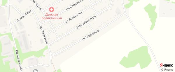 Улица Гаврилина на карте Троицкого села Алтайского края с номерами домов