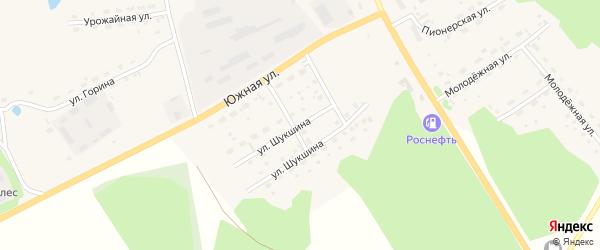Улица Шукшина на карте села Залесово с номерами домов
