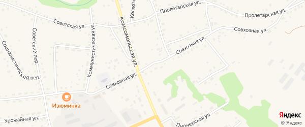 Совхозная улица на карте села Залесово с номерами домов