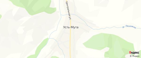 Карта села Усть-Мута в Алтае с улицами и номерами домов