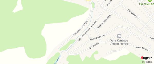Кутергенская улица на карте села Усть-Кана Алтая с номерами домов