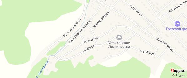 Нагорная улица на карте села Усть-Кана с номерами домов