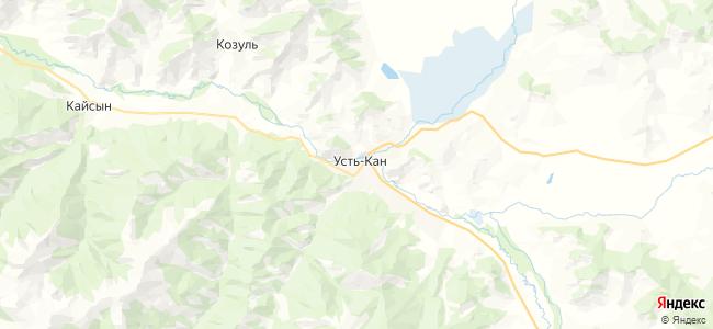 Усть-Кан на карте