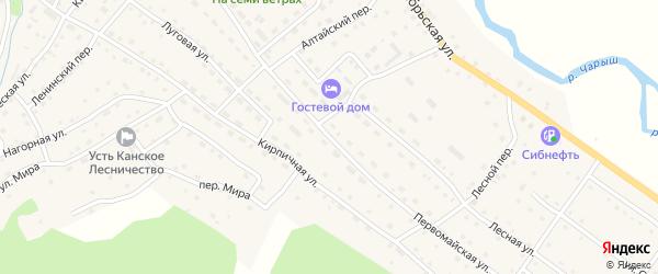 Первомайская улица на карте села Усть-Кана Алтая с номерами домов