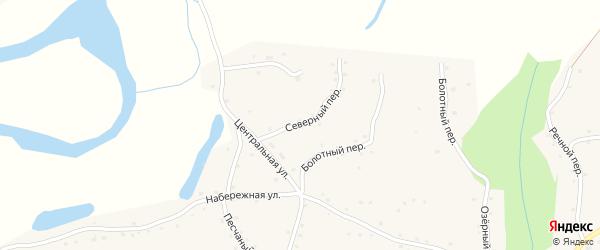 Северный переулок на карте села Сычевки с номерами домов
