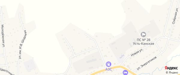 Улица Дорожников на карте села Усть-Кана Алтая с номерами домов