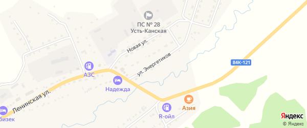 Улица Энергетиков на карте села Усть-Кана Алтая с номерами домов