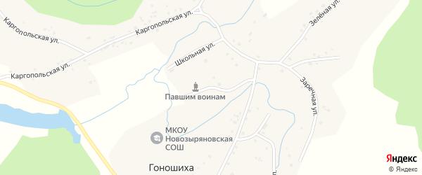 Школьная улица на карте села Гоношихи с номерами домов