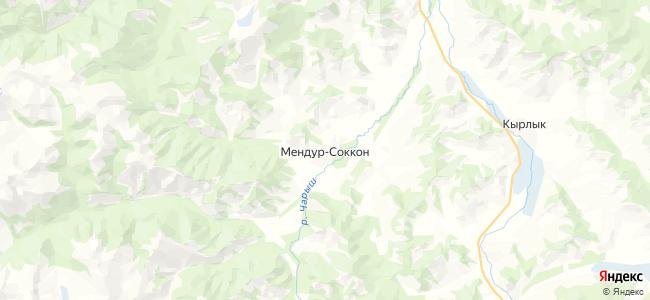 Мендур-Соккон на карте
