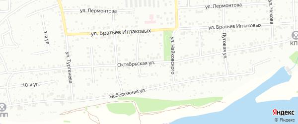 Октябрьская улица на карте Северска с номерами домов