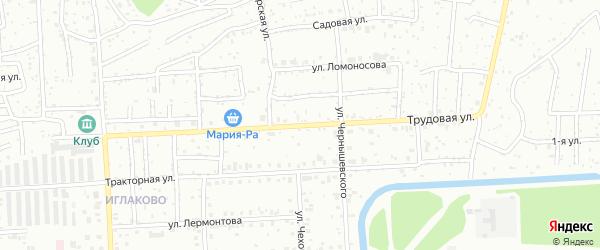 Трудовая улица на карте Северска с номерами домов