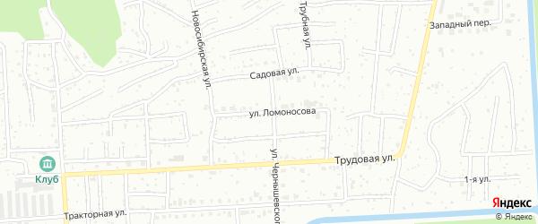 Улица Ломоносова на карте Северска с номерами домов