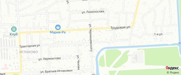 Улица Чернышевского на карте территории СНТ Мира с номерами домов