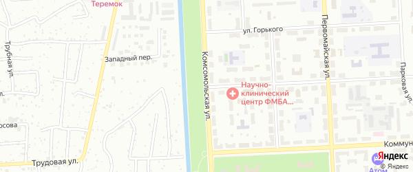 Комсомольская улица на карте Северска с номерами домов