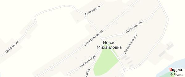 Центральная улица на карте села Новой Михайловки с номерами домов