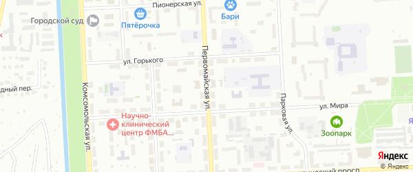 Первомайская улица на карте Северска с номерами домов