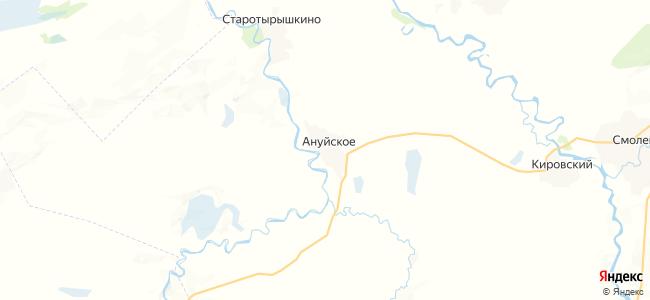 Ануйское на карте