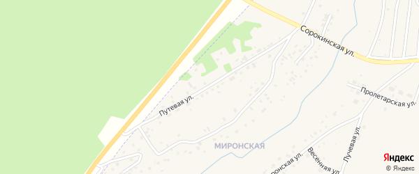 Путевая улица на карте Заринска с номерами домов