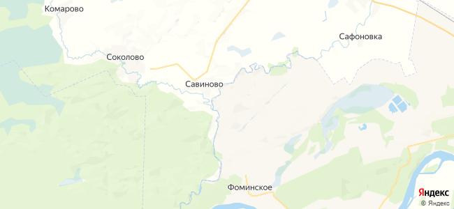 Жаворонково на карте