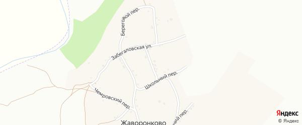 Дачная улица на карте села Жаворонково с номерами домов