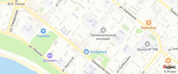 Улица Крупской на карте Северска с номерами домов