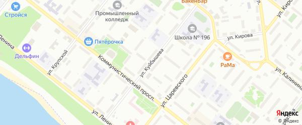Улица Куйбышева на карте Северска с номерами домов
