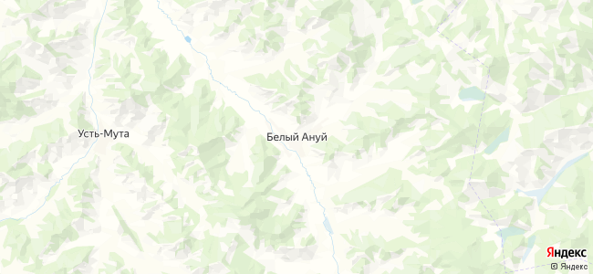 Белый Ануй на карте