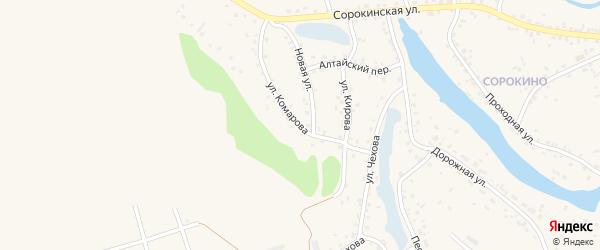 Улица Комарова на карте Заринска с номерами домов