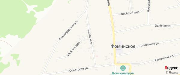 Садовая улица на карте Фоминского села с номерами домов
