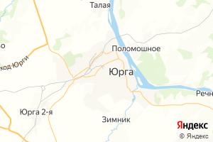 Карта г. Юрга Кемеровская область