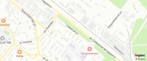 Северная улица на карте территории СНТ Виленского с номерами домов