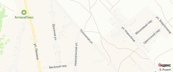 Тополиная улица на карте Фоминского села с номерами домов