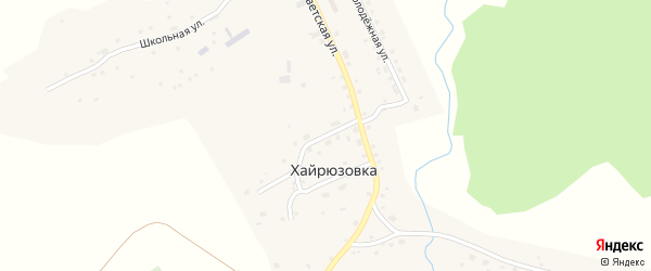 Интернациональный переулок на карте села Хайрюзовки Алтайского края с номерами домов