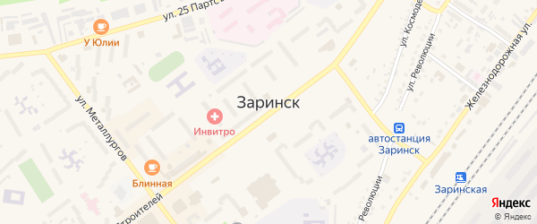 Степной переулок на карте Заринска с номерами домов