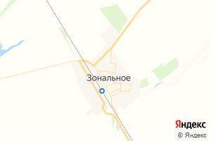 Карта с. Зональное Алтайский край