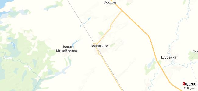 Зональное на карте