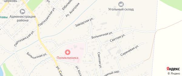 Больничная улица на карте Заринска с номерами домов