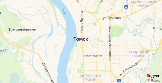 Карта Томска с улицами и домами подробная. Показать со спутника номера домов онлайн
