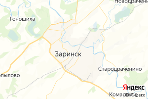 Карта г. Заринск Алтайский край