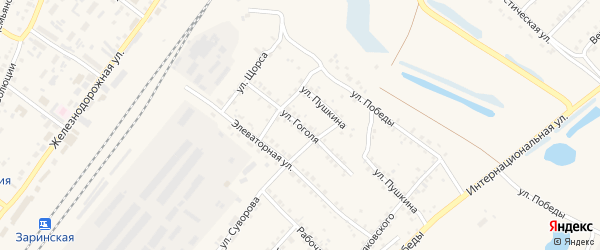 Улица Гоголя на карте Заринска с номерами домов