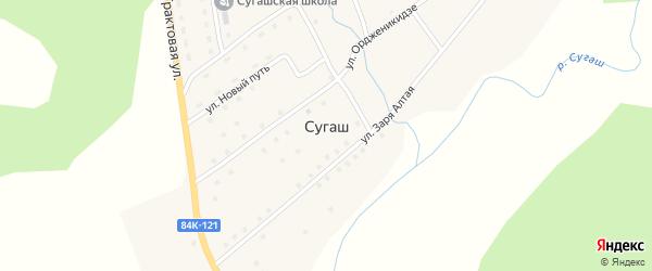 Улица Ордженикидзе на карте села Сугаша с номерами домов