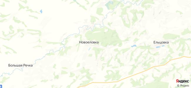 Новоеловка на карте